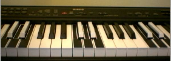 6-6 colored traditional (7-5) electronic keyboard